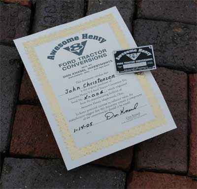 Awesome Henry - Certificate